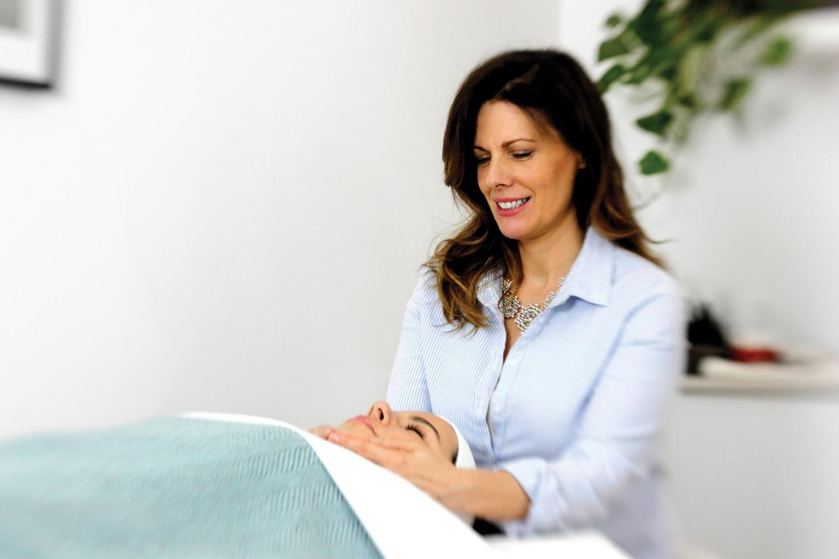 Pam Marshall in a treatment room
