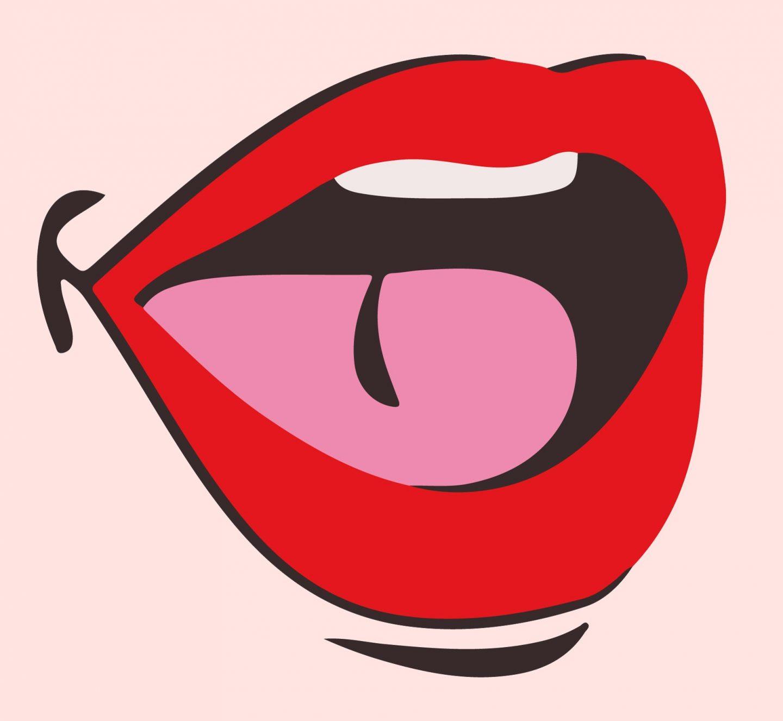 outspoken beauty red lips logo
