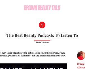 a screenshot of BrownBeautyTalk
